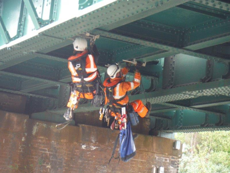 SAS Rope & Rail carrying out a bridge inspection at Janes Creek
